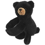 Stuffed Black Bear Snap Bracelet Wristamals Plush by Aurora