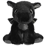 Rogue the Small Black Stuffed Dragon Big Eyed Sparkle Tales by Aurora