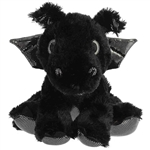 Onyx the Black Stuffed Dragon Big Eyed Sparkle Tales Plush by Aurora
