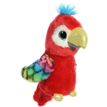 Calypso the Small Red Stuffed Parrot Sparkle Tales by Aurora