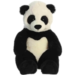 Slouching Plump Panda Bear Stuffed Animal Sluuumpy Plush by Aurora