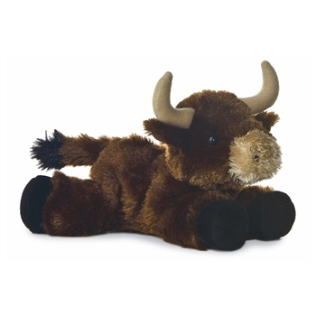 Little Toro the Stuffed Brown Bull Mini Flopsie by Aurora