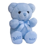10 Inch Plush Blue Baby Boy Teddy Bear By Aurora