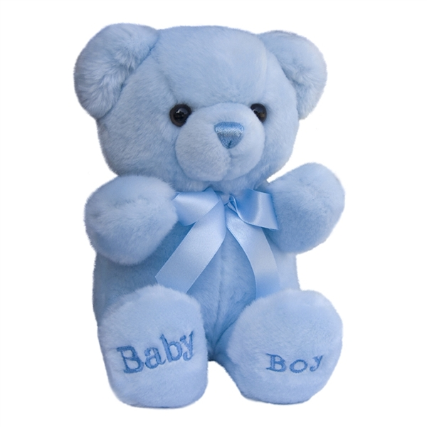 10 Inch Plush Blue Baby Boy Teddy Bear By Aurora At Stuffed Safari
