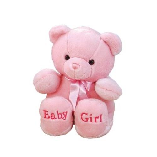 10 Inch Plush Pink Baby Girl Teddy Bear By Aurora