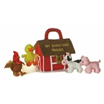 My Barnyard Friends Plush Farm Animals Playset for Babies by Aurora