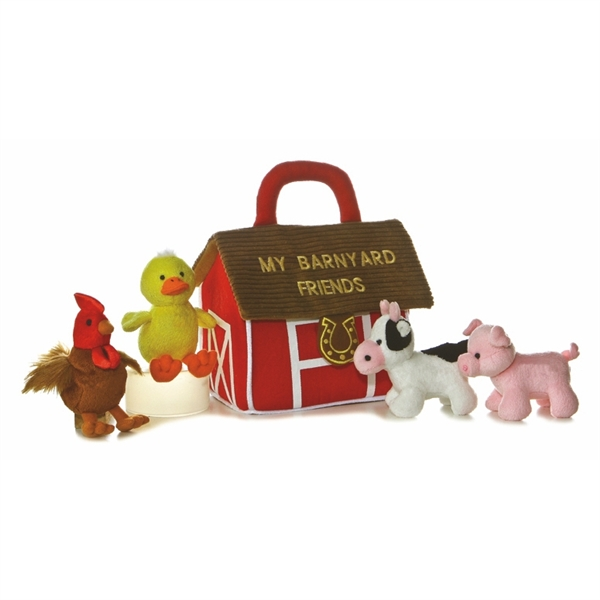 My Barnyard Friends Plush Farm Animals Playset For Babies Aurora Stuffed Safari