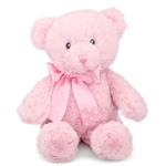 12 Inch Baby Safe Classic Plush Pink Teddy Bear By Aurora At Stuffed Safari