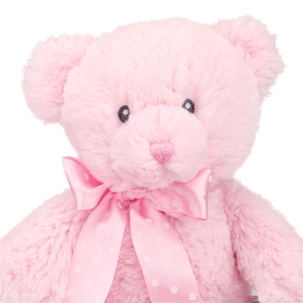 12 Inch Baby Safe Classic Plush Pink Teddy Bear By Aurora