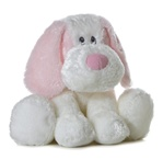 Baby Friendly Pink Dafney 9 Inch Plush Dog By Aurora Baby