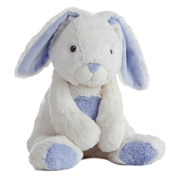Bun Bun The Quizzies White And Blue Stuffed Bunny By Aurora At