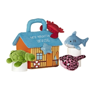 My Beach House Plush Ocean Animals Playset for Babies by Aurora