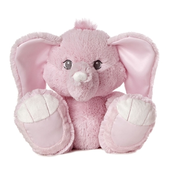 Toesie the Taddle Toes Pink Baby Safe Plush Elephant by Aurora