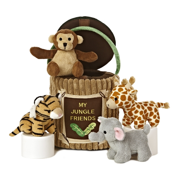 My Jungle Friends Plush Safari Animals Playset For Babies