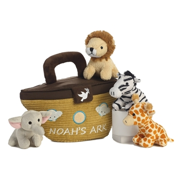 Noahs Ark Plush Wild Animals Playset for Babies by Aurora