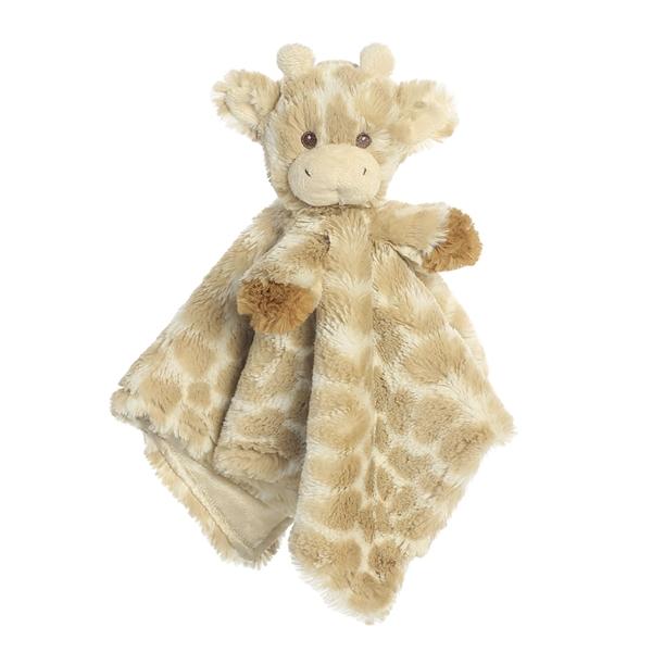 Plush Giraffe Baby Blanket Rattle Combo Aurora Stuffed Safari