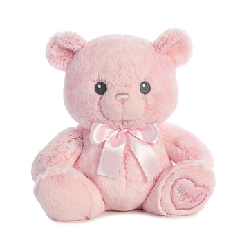 Lil Girl the Baby Safe Plush Pink Teddy Bear by Aurora