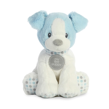 Small Baby Safe Plush Blue My First Puppy by Aurora