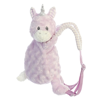 Piggyback Pals Plush Purple Unicorn Toddler Backpack by Aurora