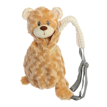 Piggyback Pals Plush Tan Bear Toddler Backpack by Aurora