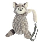 Piggyback Pals Plush Gray Raccoon Toddler Backpack by Aurora