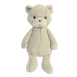 Oliver the Lil' Stripeez Baby Safe Plush Gray Bear by Aurora