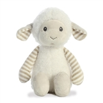 Liam the Lil' Stripeez Small Baby Safe Plush White Lamb by Aurora