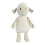 Liam the Lil' Stripeez Baby Safe Plush White Lamb by Aurora