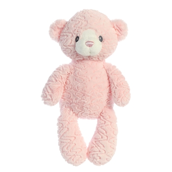 Huggy Bear the Small Baby Safe Plush Pink Bear by Aurora