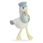 Special Delivery the Baby Safe Plush Blue Stork by Aurora