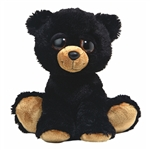 Barnam The Plush Black Bear Dreamy Eyes Stuffed Animal By Aurora