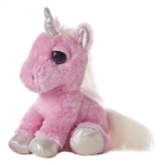 Heavenly the Dreamy Eyes Stuffed Pink Unicorn by Aurora