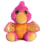 Mystery the Dreamy Eyes Pink Dragon Stuffed Animal by Aurora