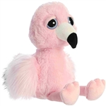 Flora the Dreamy Eyes Pink Flamingo Stuffed Animal by Aurora