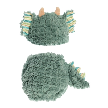 Jaxon the Plush Green Dragon Diaper Cover and Baby Hat by Aurora