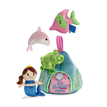 My Mermaid House Plush Ocean Animals Playset for Babies by Aurora
