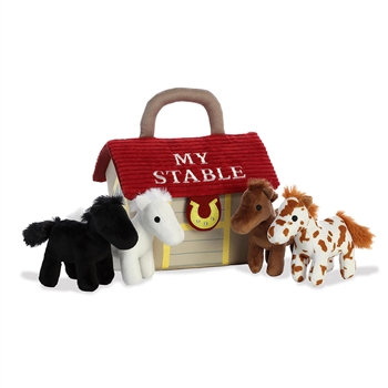 My Stable Plush Horses Playset for Babies by Aurora