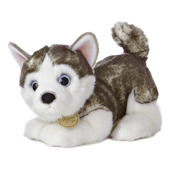 Realistic Stuffed Siberian Husky Puppy 10 Inch Plush Dog By Aurora