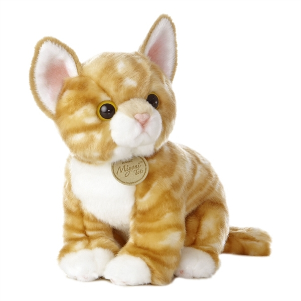 Realistic Stuffed Orange Kitten 10 Inch Plush Tabby Cat by Aurora at ... 00aee1a142bf