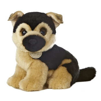 Realistic Stuffed German Shepherd Puppy 10 Inch Plush Dog by Aurora