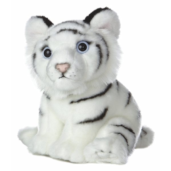Realistic Stuffed White Tiger Cub 10 Inch Plush Animal By Aurora At