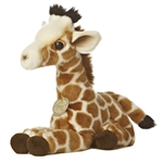 Realistic Stuffed Giraffe Calf 10 Inch Plush Animal by Aurora