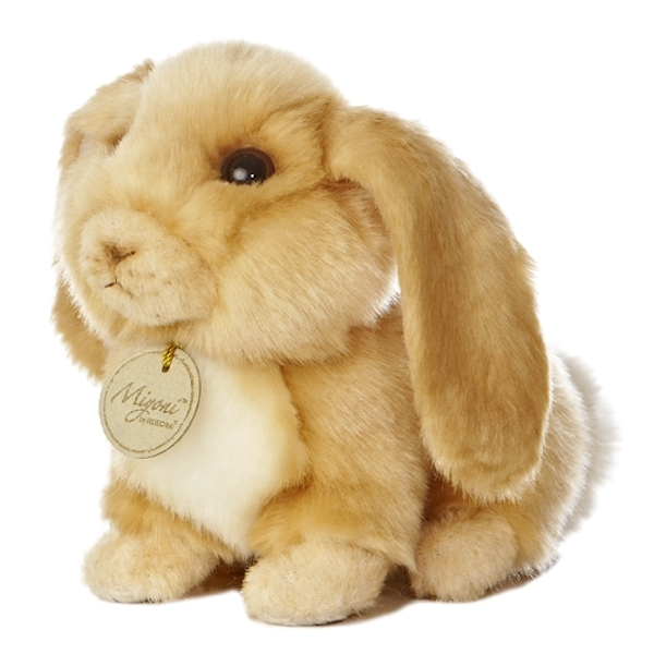 realistic stuffed lop eared bunny 8 inch plush animal by aurora at