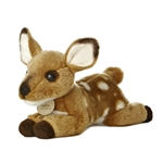 Realistic Stuffed Deer Fawn 8 Inch Plush Animal by Aurora