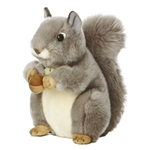 Realistic Stuffed Gray Squirrel 10 Inch Plush Animal by Aurora