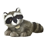 Realistic Stuffed Raccoon 10 Inch Plush Animal by Aurora