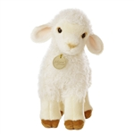 Realistic Stuffed Lamb 9 Inch Plush Animal by Aurora