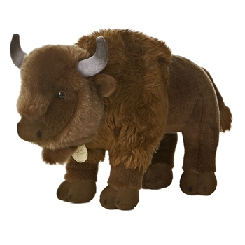 Realistic Stuffed Bison 13 Inch Plush Animal by Aurora
