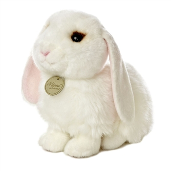 Realistic Stuffed Lop Eared Bunny 9 Inch Plush Rabbit by Aurora