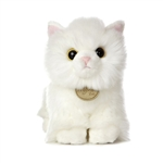 Realistic Stuffed Angora Kitten 7 Inch Plush Cat by Aurora